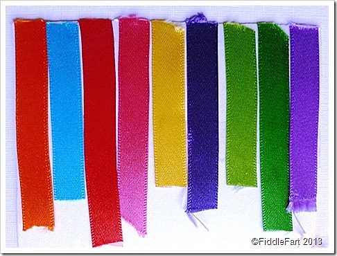Rainbow of ribbons swatch