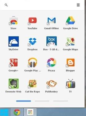 Avvio applicazioni di Chrome