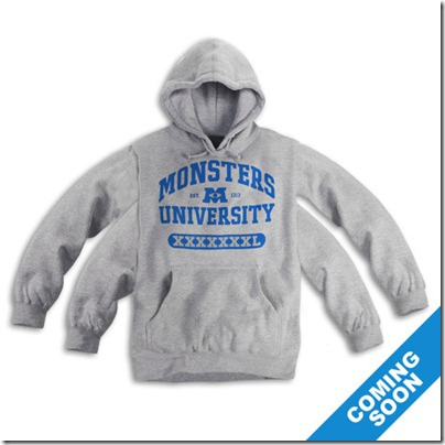 Monster University Official Clothing - Grey hoodie with 4 Arms