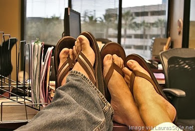 sandals-at-work