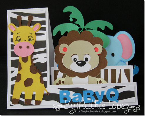 Invitation Jungle Safari themed - Baby Shower Invitation - BBQ invitation - Lion - Giraffe - Elephant -