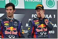 Webber e Vettel sul podio