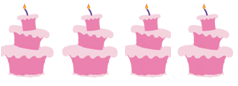 Four Un-birthday cakes