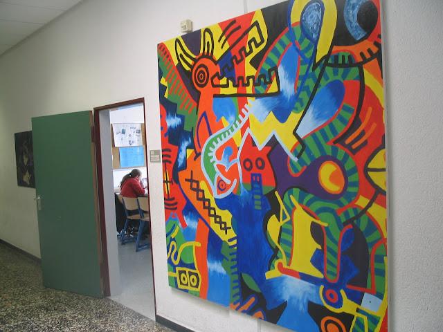 Keith Haring - Projektarbeit einer Gruppe bestehend aus den Jahrgängen 8 und 9 während einer Projektwoche