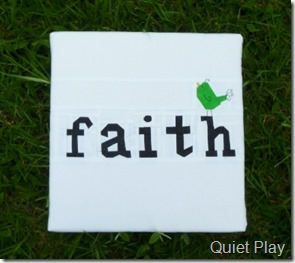 Faith - paper pieced canvas