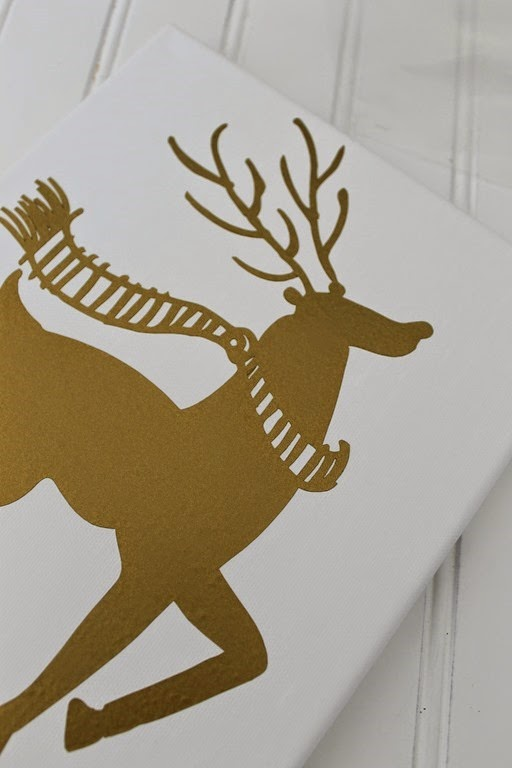 canvas vinyl deer