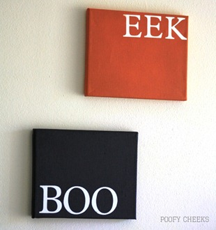 Halloween Canvas Decor