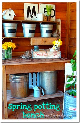 northern cottage spring potting bench