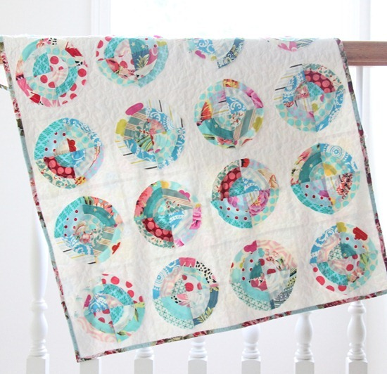Scrappy Bullseye Quilt, Cluck Cluck Sew