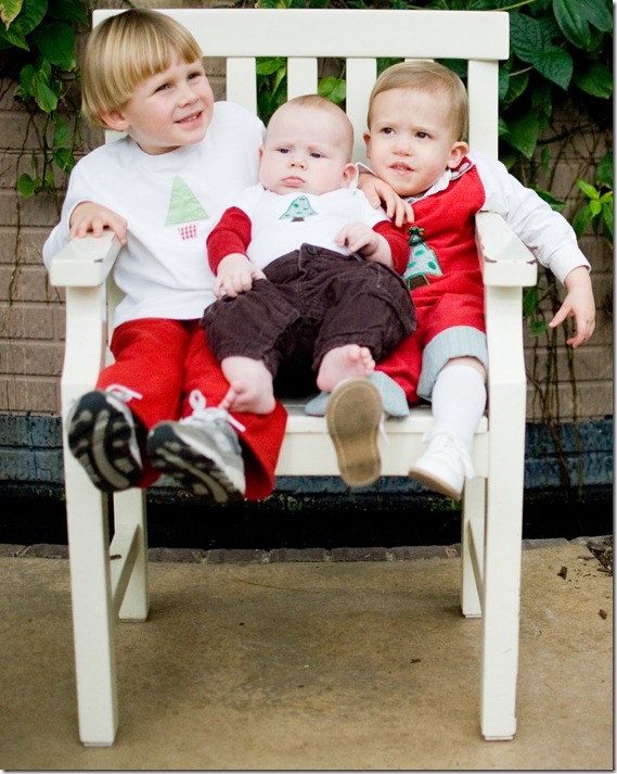 boys in small chair
