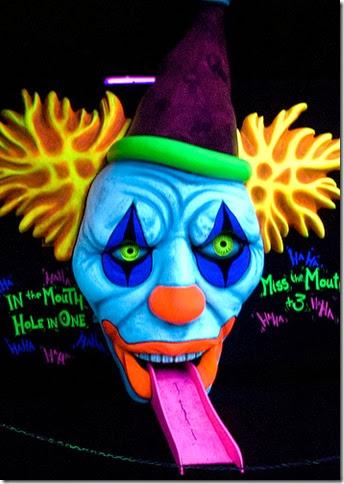 creepy clown golf