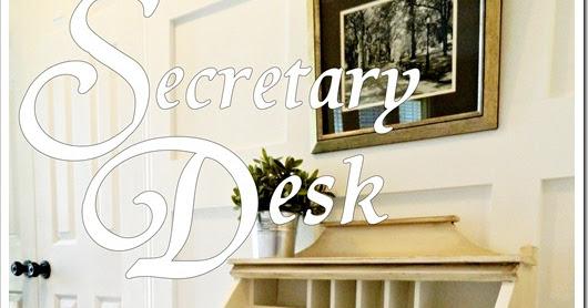 recaptured charm secretary desk for a writer. Black Bedroom Furniture Sets. Home Design Ideas