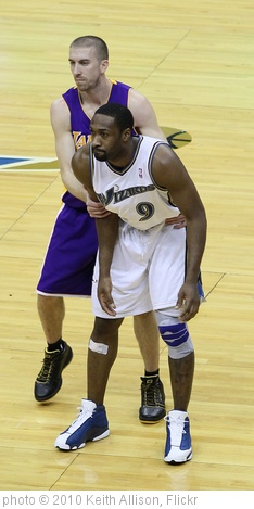 'Steve Blake and Gilbert Arenas' photo (c) 2010, Keith Allison - license: http://creativecommons.org/licenses/by-sa/2.0/