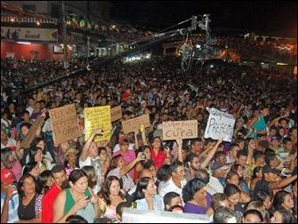 protesto homofobia banda Calypso