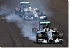 Rosberg precede Hamilton nel gran premio del Brasile 2014