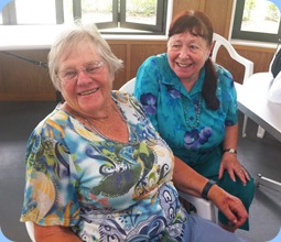 Members from NSOKC and HOKC enjoying the occasion. Left: Joyce Martin (HOKC) and Annabelle Bramley (NSOKC and HOKC). Photo courtesy of Michael Bramley