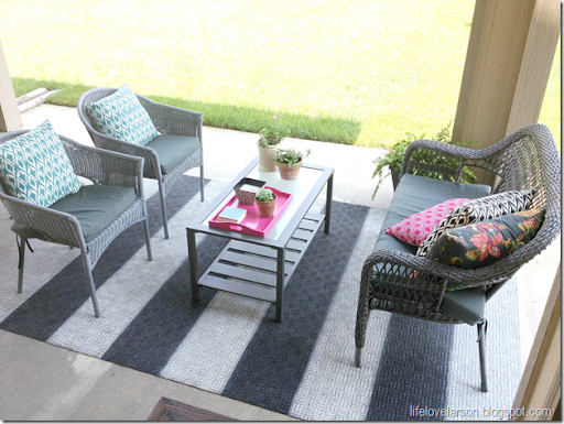 I Purchased An Inexpensive Outdoor Rug At Costco For $20. I Figure If This  Project Went Haywire, I Wasnu0027t Out That Much. This Is One Of Those Thin, ...