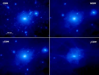 distribuição simulada de matéria escura