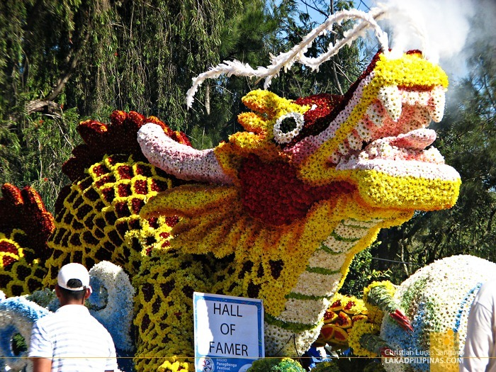 The Dragon Hall of Famer at Baguio's Panagbenga Float Parade