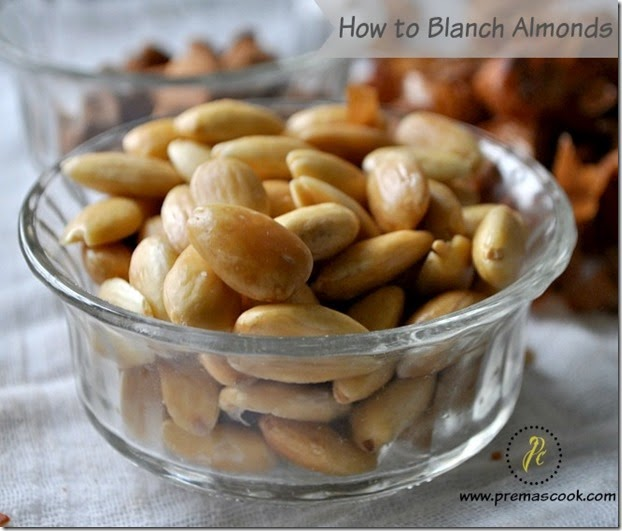 How to blanch almonds in 10 mins | Easy way to blanch almonds ~ Prema ...
