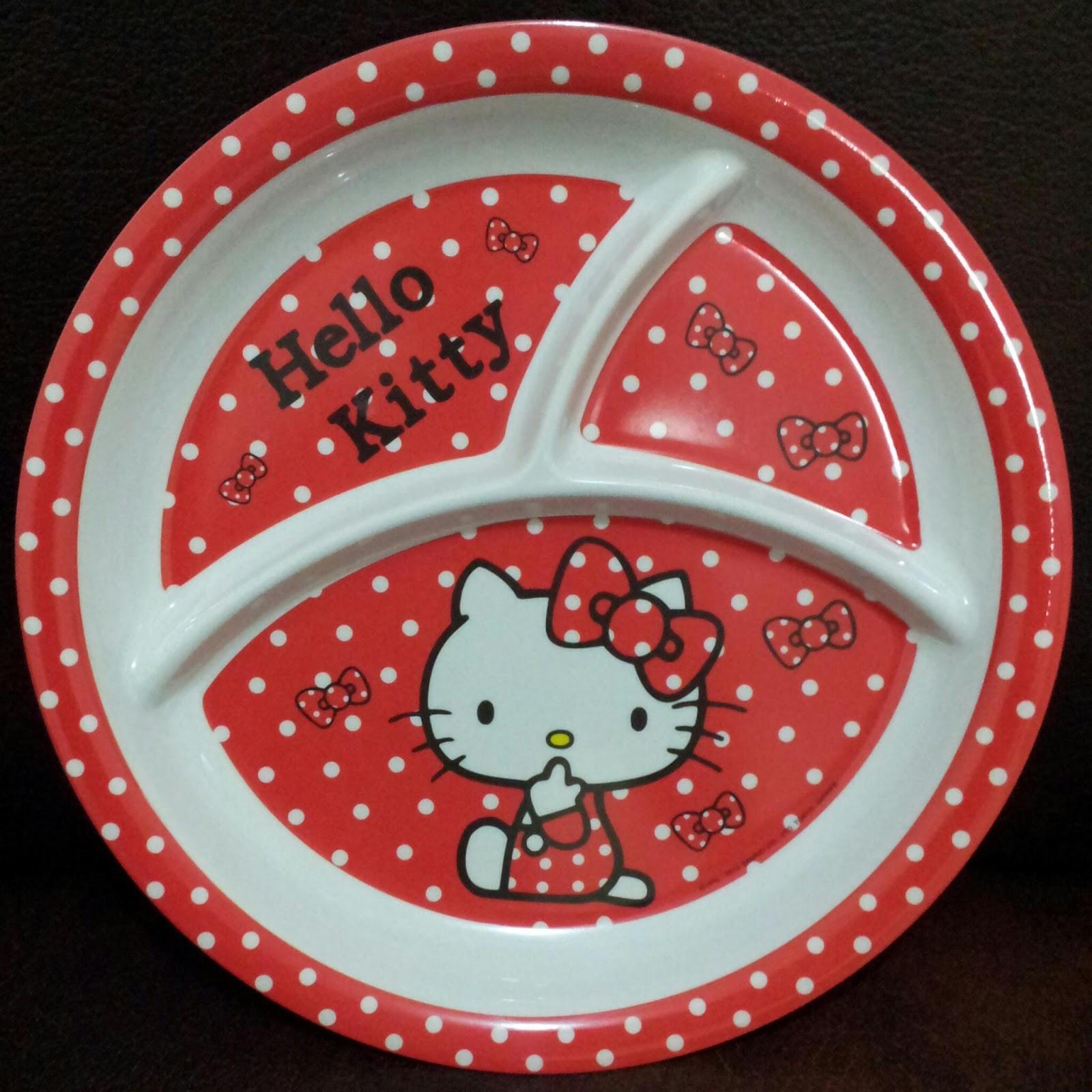 Jual Piring Melamin Sekat Hello Kitty Murah Grosir Ecer Besar Toko