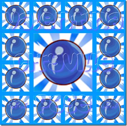 1 caramella blu