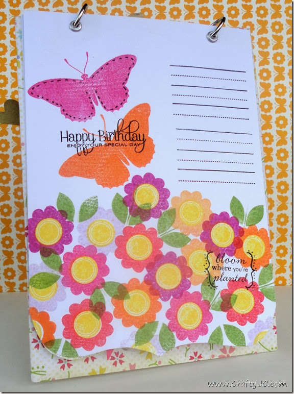 CraftyJC 10th Birthday Flip Card 4
