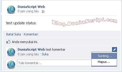 Cara mengedit komentar di facebook