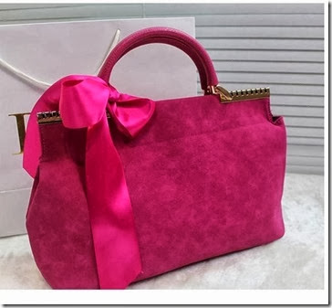 U2559 Rose (203.000) PU Leather + Velvet, 35x21x12