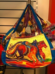 Laurel Burch bag several horses running