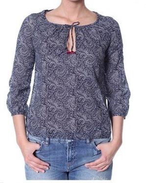 #329 Priceless blouse dark indigo