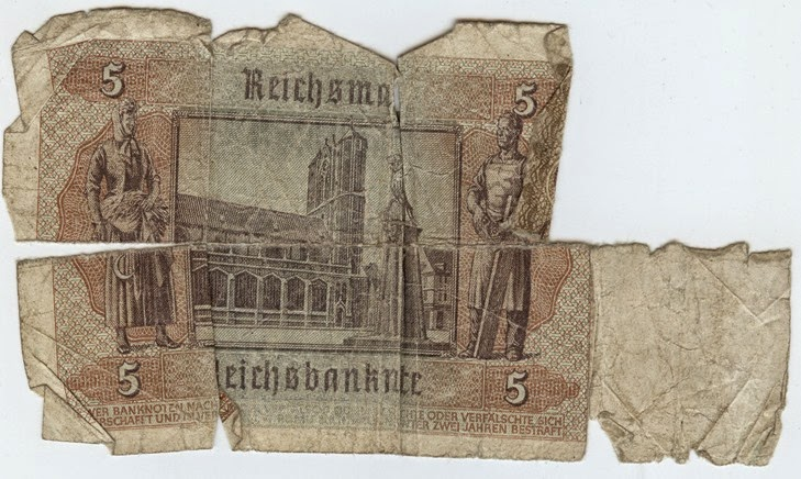 German Bank Note 1942 Back