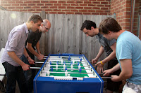 Table football - Aubain, Jonny Mac, Gerrod and Nick