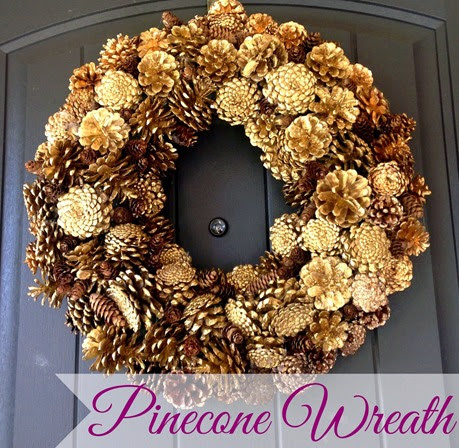 Pinecone wreath cover
