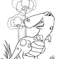 aprendo a dibujar y coloreo dinosaurios