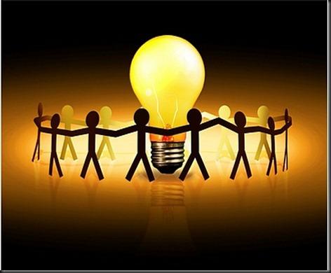 people_surrounding_light_bulb
