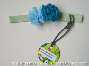 blue and blue baby headband