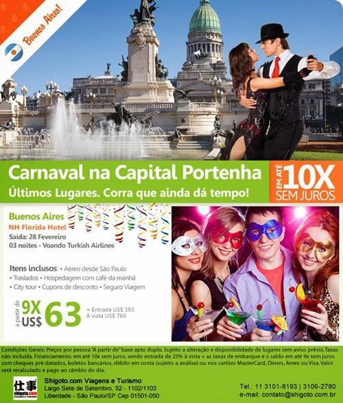 Pacote para Buenos Aires no Carnaval 2014