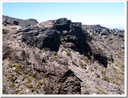 Rugged terrain around Mt Ruapehu.