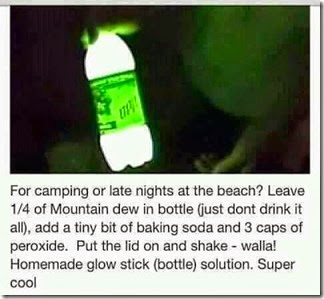 home made glow stick