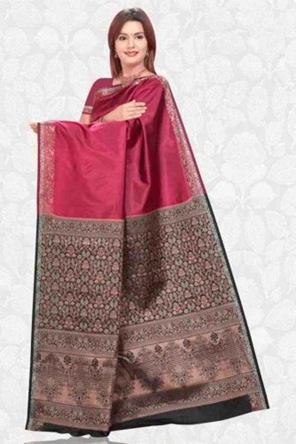 01-fancy saree red