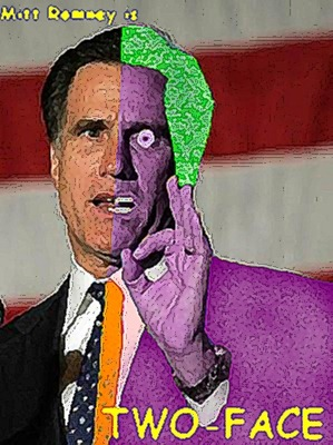 obama romney two faced