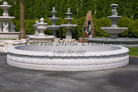 10' Round Acanthus Fountain Pool Surround, Wild Rose