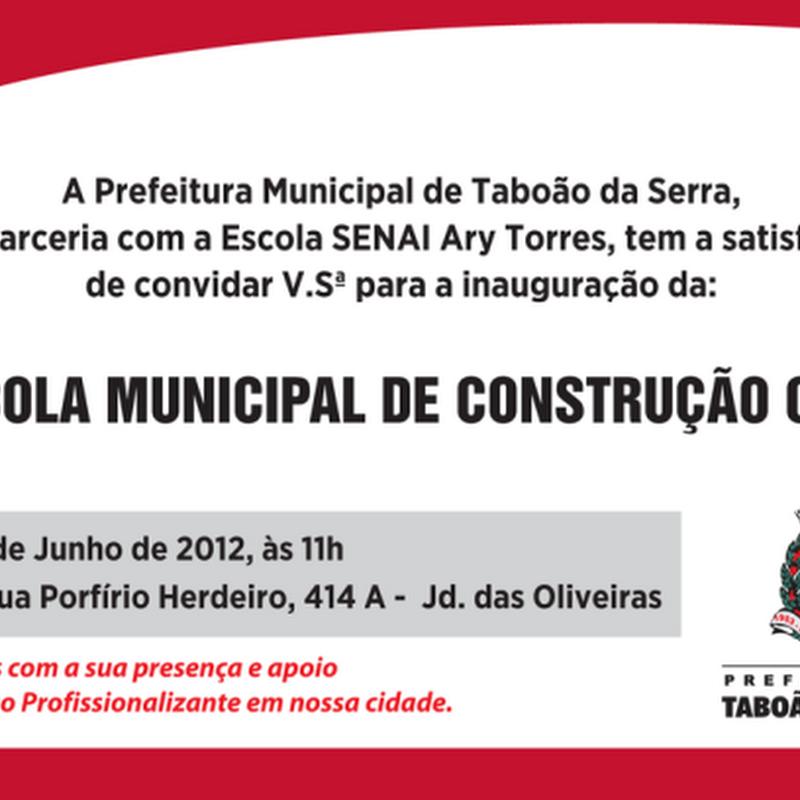 Escola Municipal de Construção Civil em Taboão da Serra.