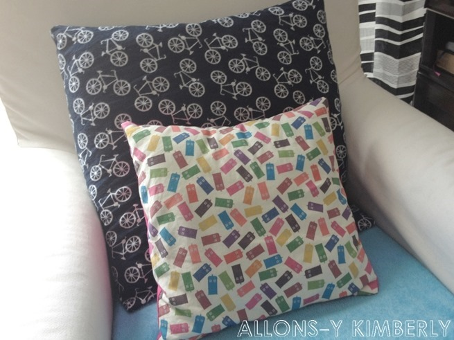 IKEA Sofa & Colorful Handmade Pillows | ALLONS-Y KIMBERLY