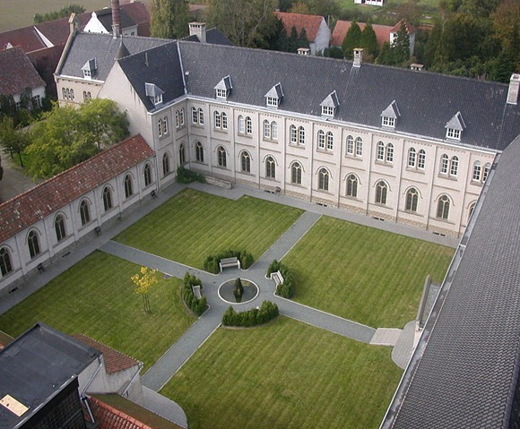 An aerial view of the Westvleteren Abbey.