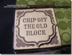 Rock teh Block close up Chip off...