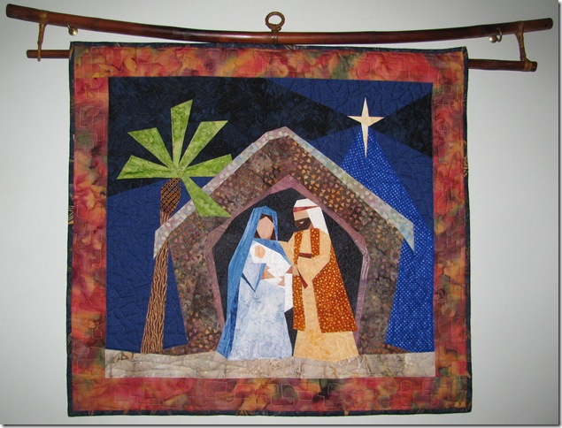 Christmas nativity quilt
