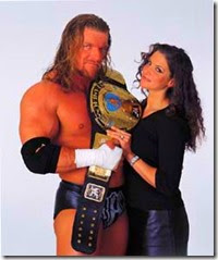 The Game Triple H with wife Stephanie McMahon