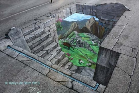 8. Valle – Pintura callejera en 3D